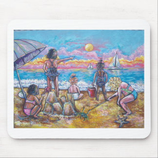 DAY AT THE BEACH MOUSE PADS