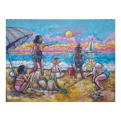DAY AT THE BEACH POSTER