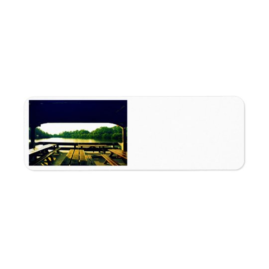 Day at the Lake Return Address Label
