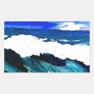 Day At The Ocean 2 - Ocean Waves CricketDiane Rectangular Sticker