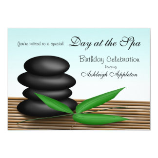"""Day at the Spa"" Birthday Celebration Invitations"