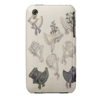 Day bonnets, fashion plate from Ackermann's Reposi Case-Mate iPhone 3 Cases