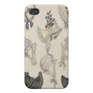 Day bonnets, fashion plate from Ackermann's Reposi iPhone 4/4S Case