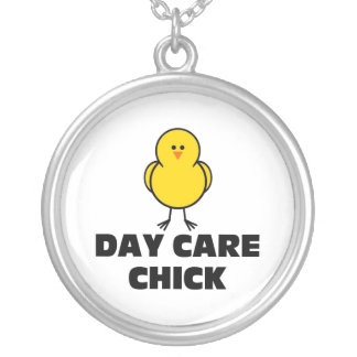 Day Care Chick Round Pendant Necklace