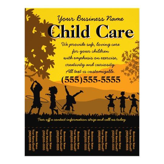 Day Care Child Care Babysitting Tear Sheet