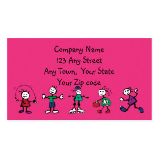 day care child care teacher or babysitting business card templates