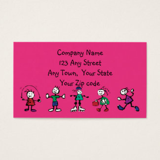 day care,child care, teacher or  babysitting business card