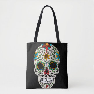 Day Dead Sugar Skull All-Over-Print Tote Bag