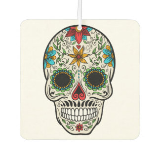 Day Dead Sugar Skull Car Air Freshener