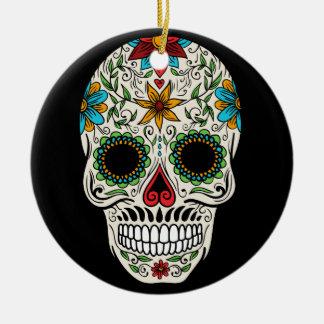 Day Dead Sugar Skull Circle Ornament