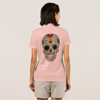 Day Dead Sugar Skull Nike Dri-FIT Pique Polo Shirt