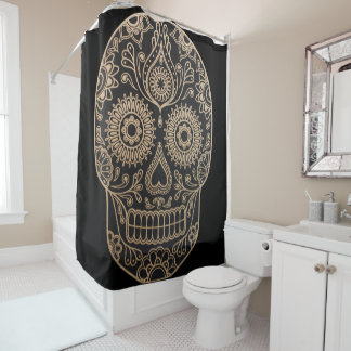 Day Dead Sugar Skull Shower Curtain