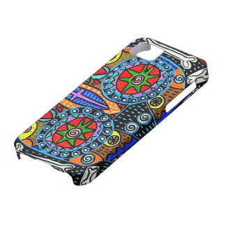 Day Dead - Talavera Sugar Skull Owl Eyes- iPhone iPhone 5/5S Cover