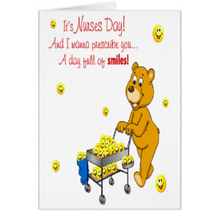 Nurses day cards invitations zazzle day full of smiles nurses day greeting card m4hsunfo Image collections