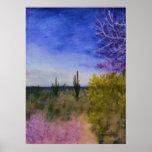 Day in the Arizona Desert Landscape Outside Poster