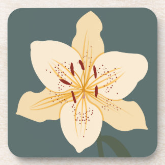 Day Lily Illustration Coaster