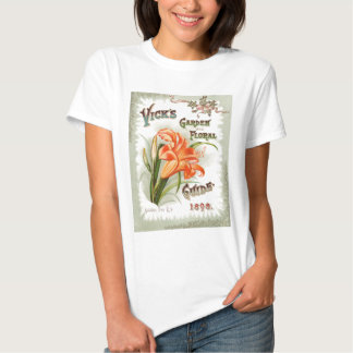 Day Lily Seed Packet Vintage Ladies Shirt