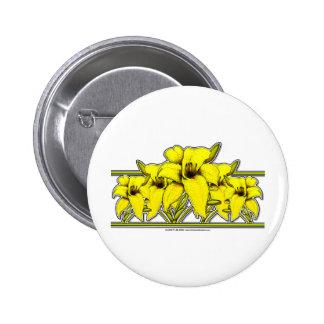 Day Lily Strip Pinback Button