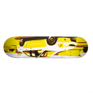 Day Night Car Series. Deck One Custom Skate Board