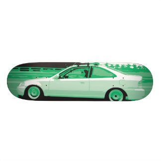 Day Night Car Series. Deck Two 21.6 Cm Skateboard Deck