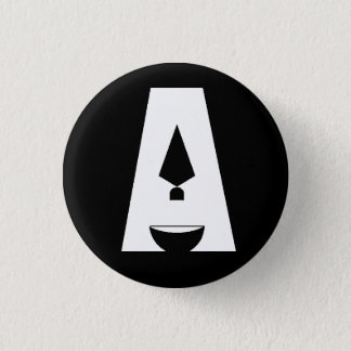 "Day of Archaeology ""A"" logo black button"