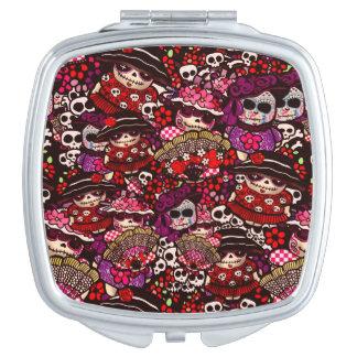 Day of Dead Doodles Dia de los Muertos Makeup Mirror