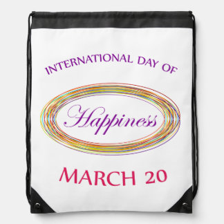 Day of Happiness- Commemorative Day Drawstring Bags