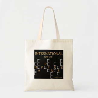 Day of Happiness- Commemorative Day March 20 card Budget Tote Bag