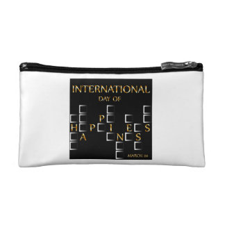 Day of Happiness- Commemorative Day March 20 card Makeup Bag