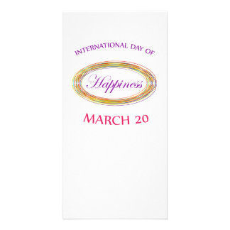 Day of Happiness- Commemorative Day Photo Card Template