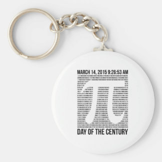 Day Of The Century Basic Round Button Key Ring