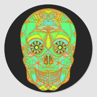 Day of the Dead 1 Round Sticker