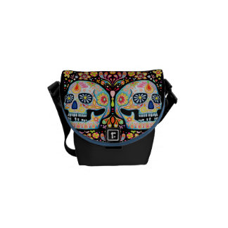 Day of the Dead Art Mini Messenger Bag