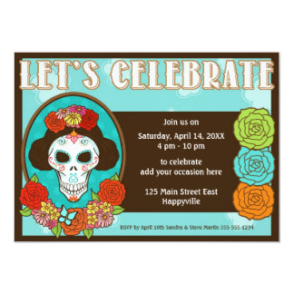 Day of the Dead Beauty Invite