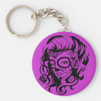 Day of the Dead Beauty Key Ring