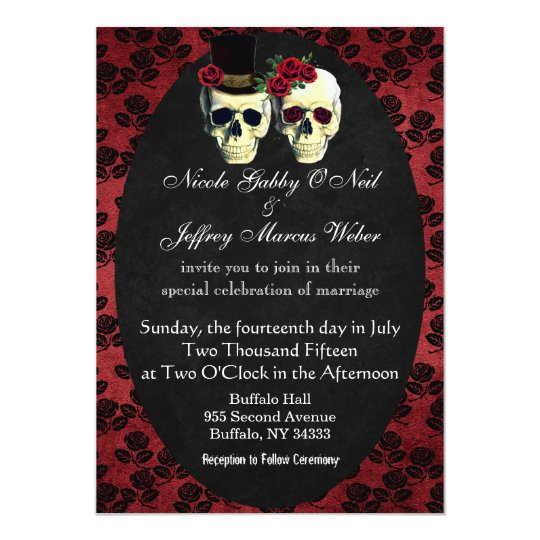 Day of the Dead Bride and Groom Wedding