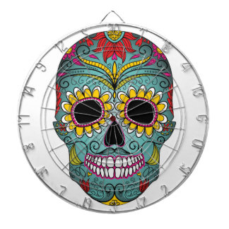 Day of the Dead Bright Skull Dartboard