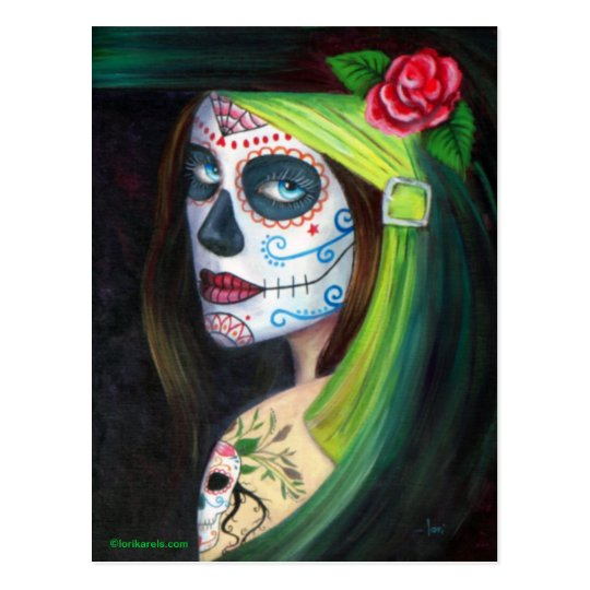 Day of the Dead by Lori Karels Postcard