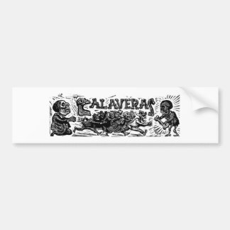 "Day of the Dead. ""Calaveras"" c. 1951 Mexico. Bumper Sticker"