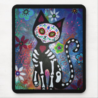 Day of the Dead Cat by Prisarts Mouse Mat