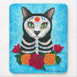 Day of the Dead Cat Sugar Skull Cat Mousepad
