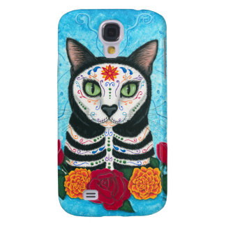 Day of the Dead Cat Sugar Skull iPhone 3G Case