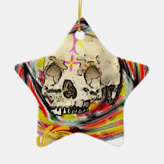 day of the dead ceramic star decoration