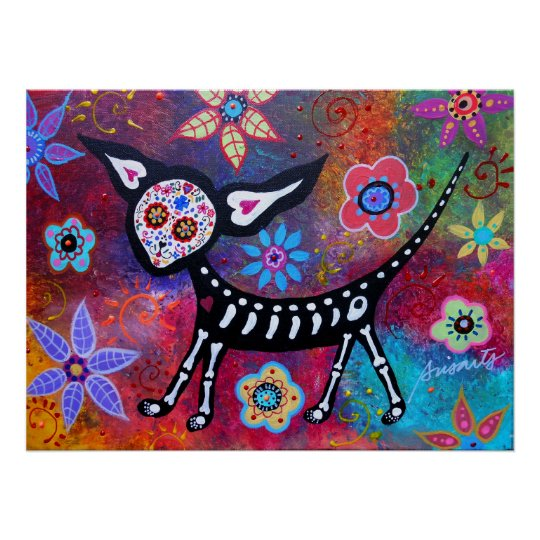 Day of the Dead Chihuahua Pet Dog Painting