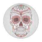 Day Of The Dead Colourful Skull With Floral Cutting Board