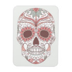 Day Of The Dead Colourful Skull With Floral Magnet