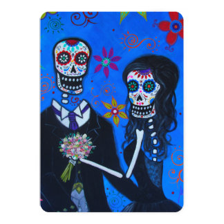DAY OF THE DEAD COUPLE WEDDING CARD