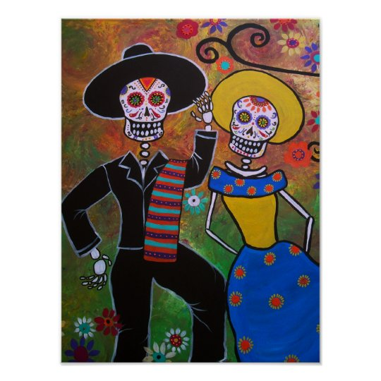 Day of the Dead Dancing Couple Poster