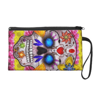 Day of the Dead - Death Mask Wristlet Purses