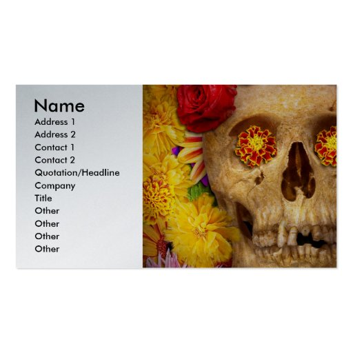 Day of the Dead - Dia de los Muertos Business Card Templates